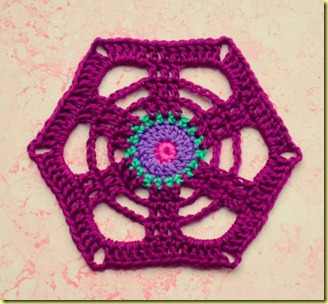 zeshoek granny square