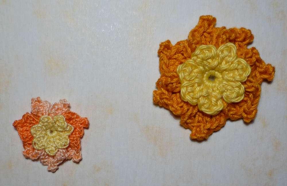 Dubbele bloem met 7 bloemblaadjes