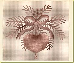 borduurpatroon van een hart