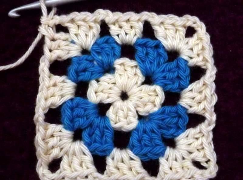 Granny square met 2 kleuren
