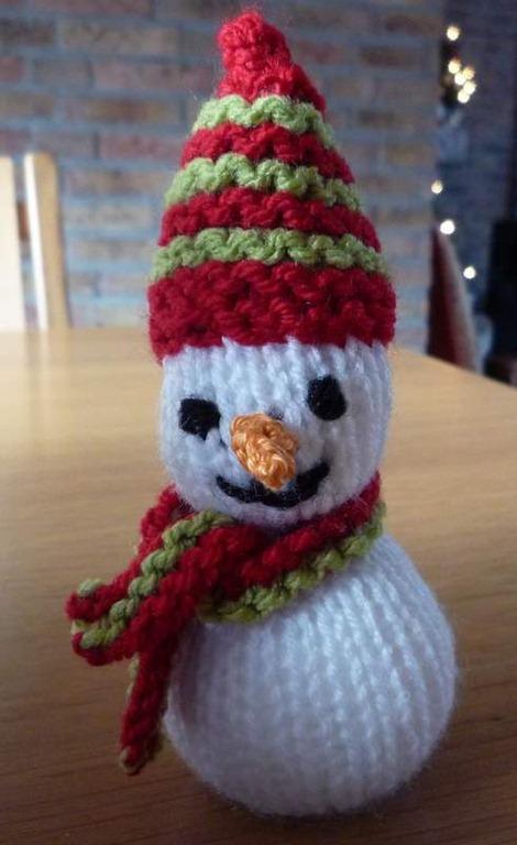 Sneeuwpop Breien Blij Met Draadjes