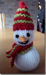 gebreide sneeuwman, gebreide sneeuwpop