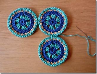 gehaakte cirkels, ronde granny squares