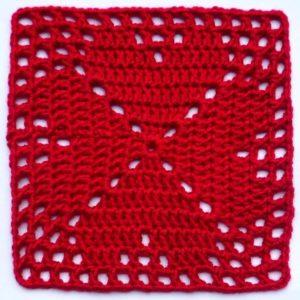 4-harten granny square