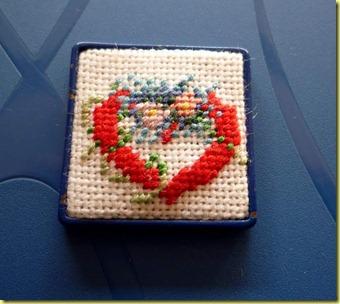 geborduurd Valentijnshart