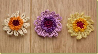 gehaakte bloemetjes