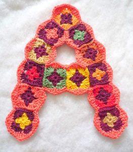 Serie 2: A,B,C, granny square letters