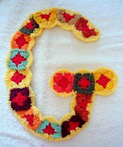Serie 2: G,H,I, granny square letters