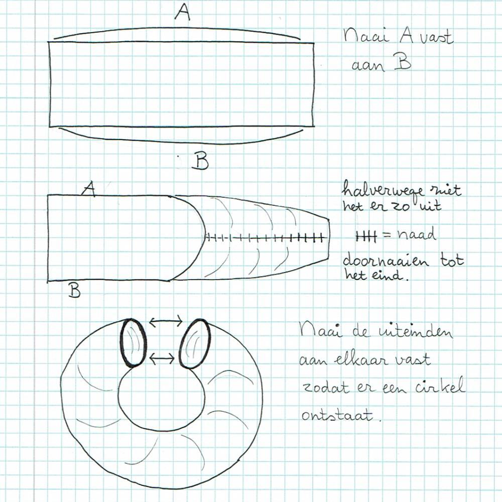 Gehaakte krans - tekening