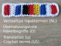 Vertaallijst haaktermen